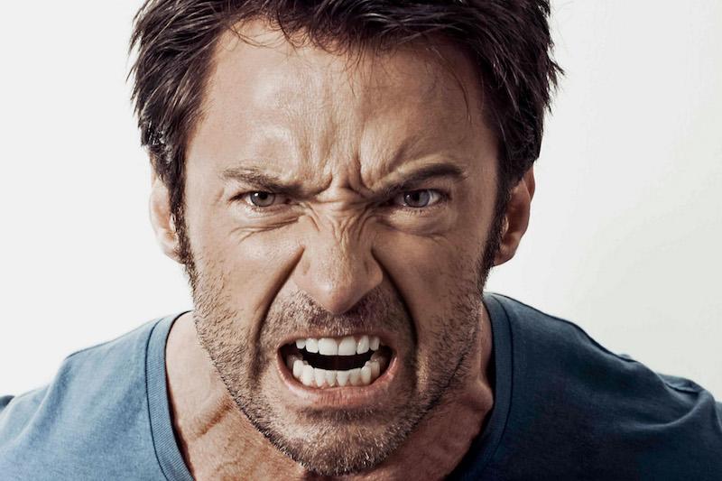 Angry Hugh Jackman
